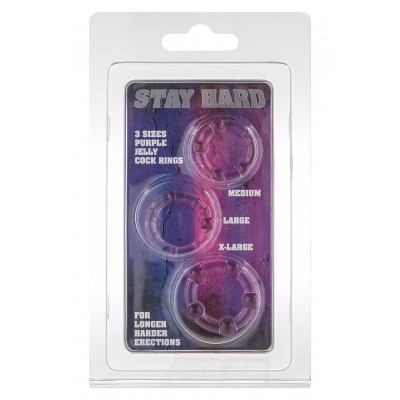 Stay Hard - Three Rings - Purple