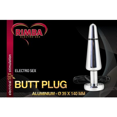 Electro Sex Buttplug, bi-polair (140 mm)