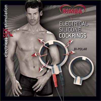 Electro Sex Siliconen Cock Ringen, bi polair. Rond