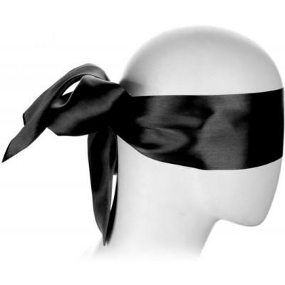 Black Blindfold Satin Look